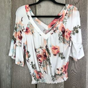 American Rag Floral Top Blouse Size S